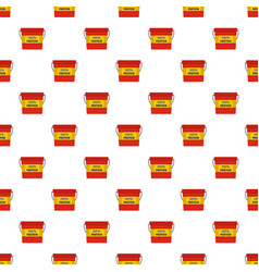 protein bucket pattern seamless vector image