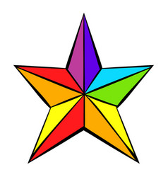 Rainbow star icon icon cartoon vector