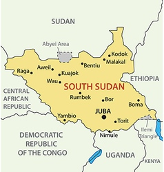 Republic of South Sudan - map vector image