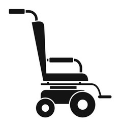 Scooter wheelchair icon simple style vector