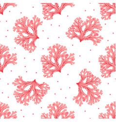 seamless underwater pattern with red seaweed vector image
