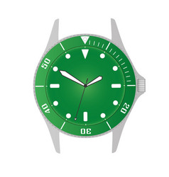 simple modern sport divers style green watch case vector image