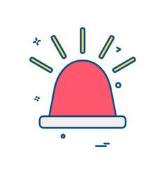 siren icon design vector image
