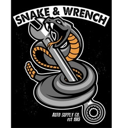 snake with hold the wrench vector image