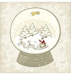 Snow globe centerpiece vector