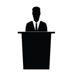 speaker silhouette vector image