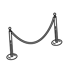 stanchion set icon doodle hand drawn or outline vector image