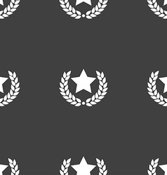 Star award icon sign Seamless pattern on a gray vector