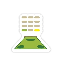 Stylish sticker on paper money and ATM vector