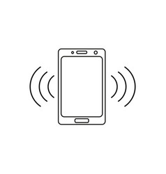 telephone call icon vector image
