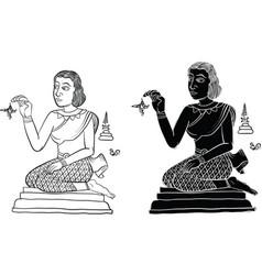 Thai yantra tattoo vector