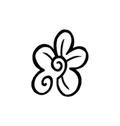 Thin line flower petals icon vector