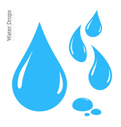 water drop icon set raindrop silhouette vector image