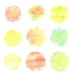 Watercolor circles isolated on white background vector image