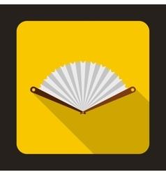 White fan icon in flat style vector