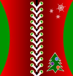 Christmas red lacing vector image vector image