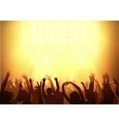 crowd dancing vector image vector image