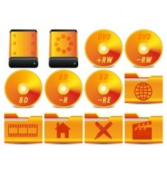 DVD icons vector image vector image
