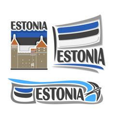 logo for estonia vector image vector image
