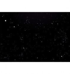 night sky dark with stars vector image vector image