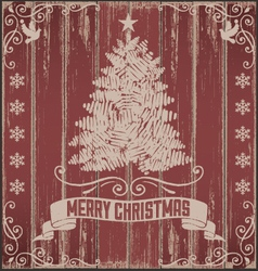 Rustic Vintage Christmas Card vector image vector image