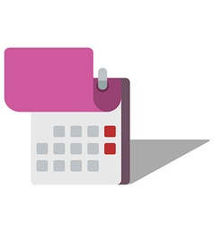 Icon of calendar in flat style vector image