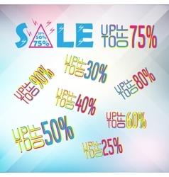 big set of sale banner elemnts vector image