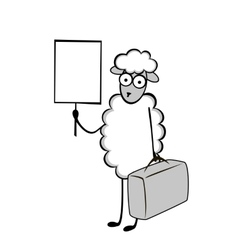 Funny young sheep vector image vector image