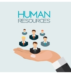 Human Resources Concept Flat Design vector image vector image