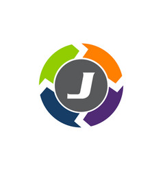 Process planner center letter j vector