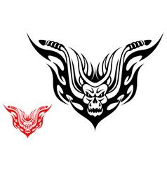 Tribal biker motorcycle tattoo vector image
