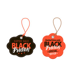black friday concept sale shopping offer cheap vector image