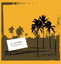 grunge tropical scene vector image