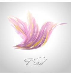 Shiny lavender flying hummingbird vector image vector image
