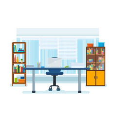 the interior of the office room with a workplace vector image vector image