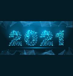 2021 technology digital style geometric polygonal vector image