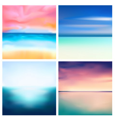 Abstract nature blurred background set vector