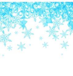 Abstract Winter Background from Blue Snowflakes vector image