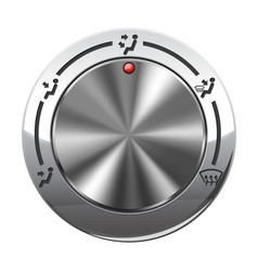 air flow selector car dashboard chrome switch vector image