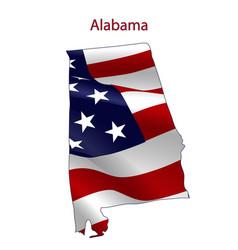 alabama full american flag vector image