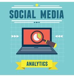 Analytics social media information vector image