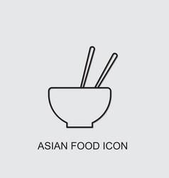 Asian food icon vector