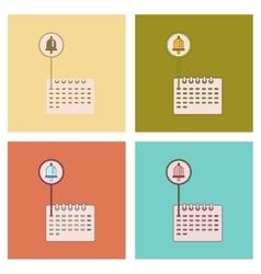 Assembly flat icons school calendar vector