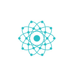 atom global with electrons design vector image