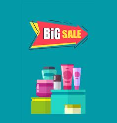 big sale advertising card vector image