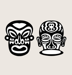 Black and white mask vector