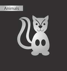 Black and white style icon squirrel vector