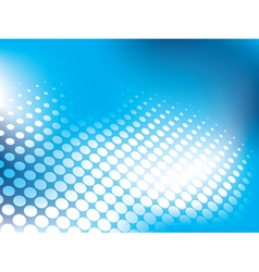 Blue abstract background with halftone vector