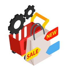 Business development icon isometric style vector