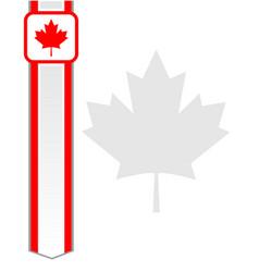 Canadian flag red maple leaf frame card letter vector